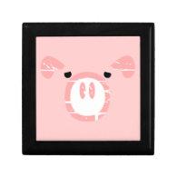 Cute Pig Face illusion. Gift Box