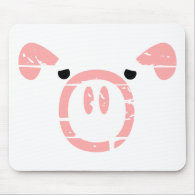 Cute Pig Face illusion. Mousepads