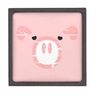 Cute Pig Face illusion. Premium Jewelry Box
