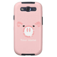 Cute Pig Face illusion. Samsung Galaxy S3 Case