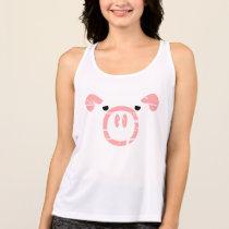 Cute Pig Face illusion Tank Top