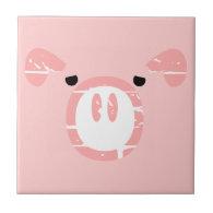 Cute Pig Face illusion. Tiles