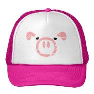 Cute Pig Face illusion. Trucker Hat