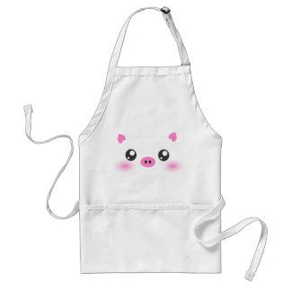 Cute Pig Face - kawaii minimalism Adult Apron
