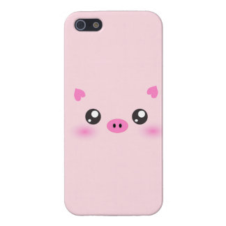 Cute Pig Face - kawaii minimalism Cover For iPhone SE/5/5s