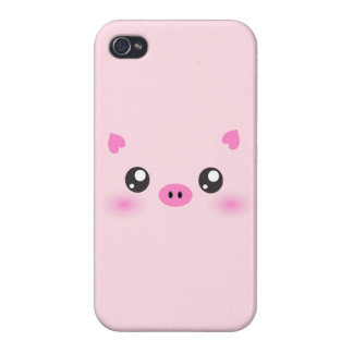 Cute Pig Face - kawaii minimalism Covers For iPhone 4