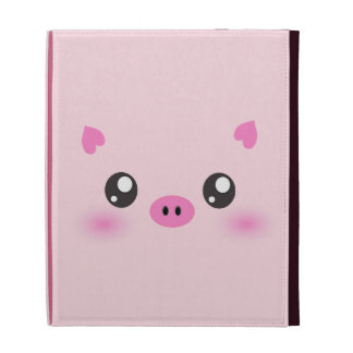 Cute Pig Face - kawaii minimalism iPad Cases