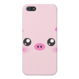 Cute Pig Face - kawaii minimalism iPhone SE/5/5s Cover