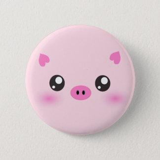 Cute Pig Face - kawaii minimalism Pinback Button