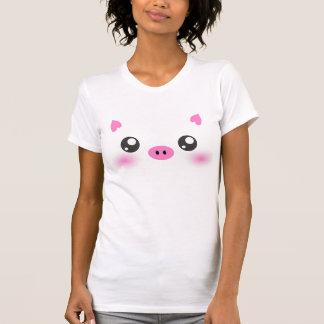 Cute Pig Face - kawaii minimalism T Shirt