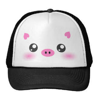 Cute Pig Face - kawaii minimalism Trucker Hat