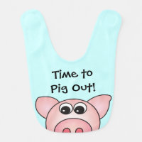 Cute Pig Farm Animal Baby Bib