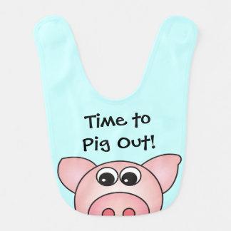 Cute Pig Farm Animal Baby Bib