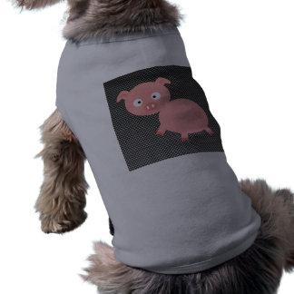 Cute Pig; Faux Carbon Fiber Pet T Shirt