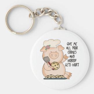 Cute Pig Gift Basic Round Button Keychain