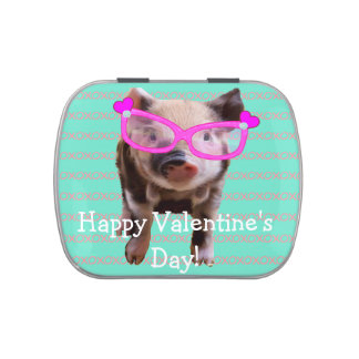 Cute Pig - Happy Valentine s Day Candy Tins