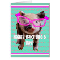 Cute Pig - Happy Valentine's Day Card