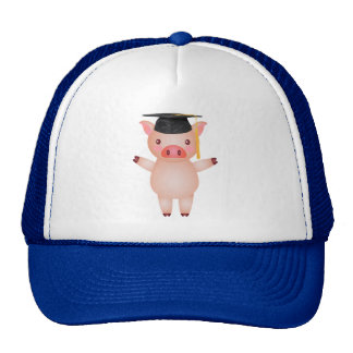 Cute Pig in Graduation Cap