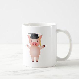 Cute Pig in Graduation Cap Coffee Mug