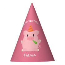 Cute Pig Kids Birthday Party Hat