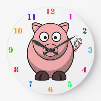 CUTE PIG Kids Wall Clock