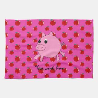 Cute pig hand towel
