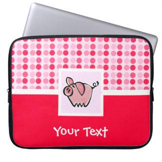 Cute Pig Laptop Sleeve