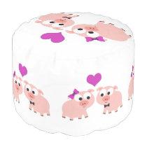 Cute Pig Love Pouf