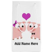 Cute Pig Love Small Gift Bag