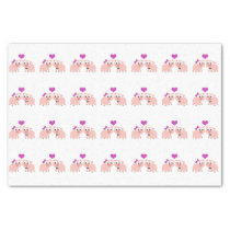Cute Pig Love Tissue Paper