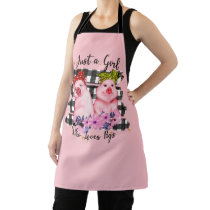 cute pig lovers kitchen Apron