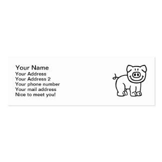 Cute pig mini business card