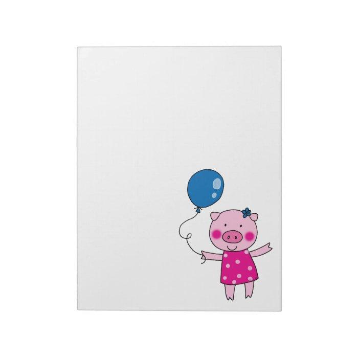 Cute pig notepad