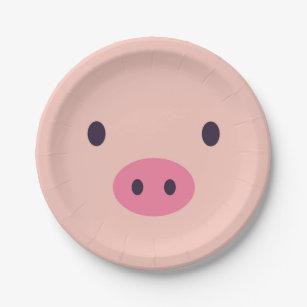 Cute Pig Paper Plates & Pig Plates | Zazzle