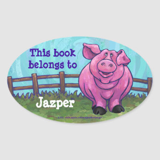 Cute Pig Personalized Book Plate