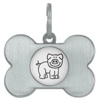 Cute pig pet ID tag