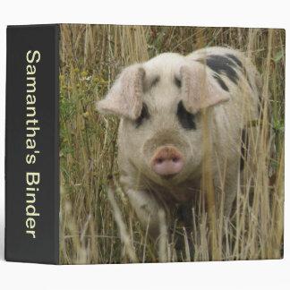 Cute Pig Photograph Album 3 Ring Binder