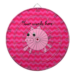 Cute pig pink chevrons dartboards