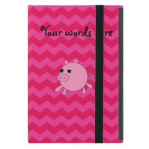 Cute pig pink chevrons iPad mini case