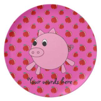 Cute pig dinner plates