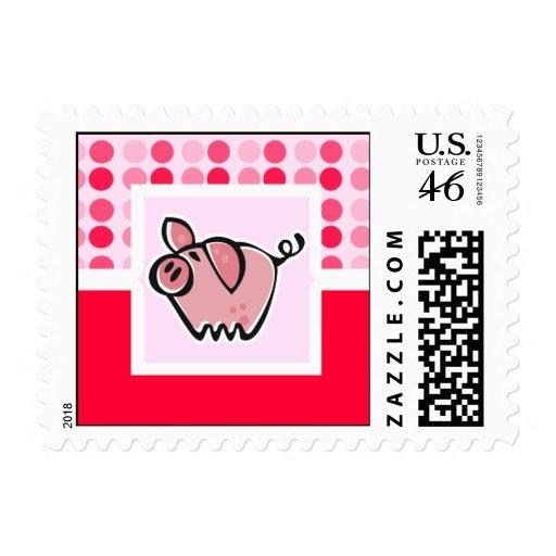 Cute Pig Postage