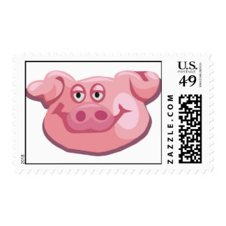 Cute Pig Postage Stamps