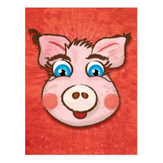 Cute Pig postcard