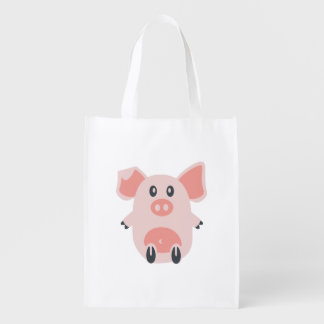 Cute Pig Reusable Grocery Bag