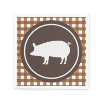 Cute pig roast party napkins