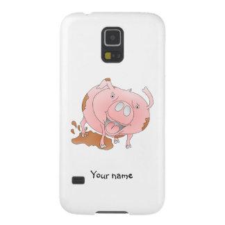 Cute pig slashing mud galaxy s5 cover
