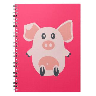 Cute Pig Spiral Notebook