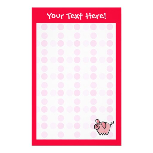 Cute Pig Stationery