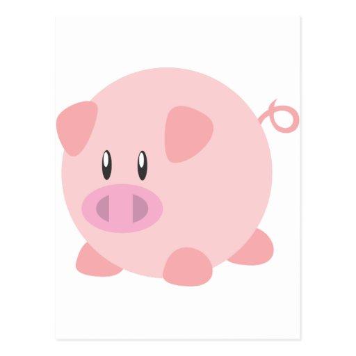 Cute Pig T Shirt, Shirts, Pig Gifts, Art, Posters Postcard