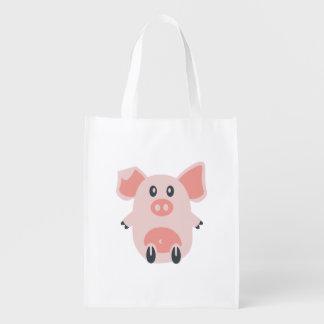 Cute Pig Market Totes